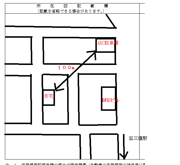 配置 書き方 図 証明 車庫
